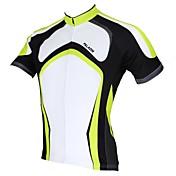 ILPALADINO サイクリングジャージー 男性用 半袖 バイク ジャージー トップス 速乾性 抗紫外線 高通気性 ポリエステル100% 縞柄 春 夏 レジャースポーツ サイクリング/バイク