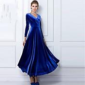 JFSの女性のエレガントなVネックドレス