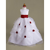 URIANA - kjole til Blomsterjente i Organza og Satin