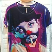 Gianny los hombres de la impresión 3D Patrón Payaso Colorido Camisetas