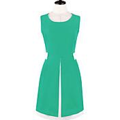 Adelgaza color sólido Vestido sin Mangas Mujeres MFL (pantalla a color)