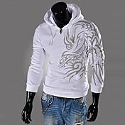 lesenメンズパーカー人格プリントファッションの綿パーカーO