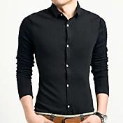 メンズファッションカジュアル高品質長袖シャツ
