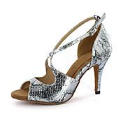 Zapatos de baile (Plata/Oro) - Danza latina - Personalizados - Tacón grueso
