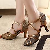 Može se prilagoditi - Ženske - Plesne cipele - Moderni plesovi / Balska sala - Šljokice - Prilagođeno Heel - Zlato