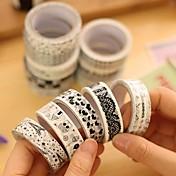 černá a bílá dekorativní páska (náhodné barvy 1 ks)