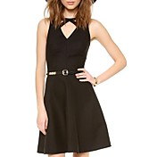 女性のVネックチェックはラインの背中が大きく開いドレスを切り出す