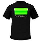 Camisetas LED  Luces LED Activadas Por Sonido Algodón Novedad 2 Baterías AAA