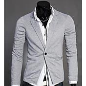 thaihoo cuello sastre color sólido abrigo de los hombres