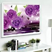 DIYの壁掛け壁の装飾、fantacy紫ロマンチックな三次元樹脂ダイヤモンドキャンバスの絵画芸術の壁の装飾