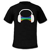 mens luz LED por camiseta sonido de rodadura auriculares y ecualizador activado música para raver barra del grupo
