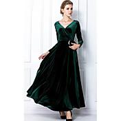 huicuifangエレガントな長袖のドレス