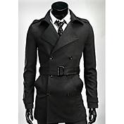 la moda de invierno de los hombres de mar larga delgada guardapolvo 00-f67