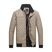 堀田メンズ長袖スリムファッションスタンドカラーは、ジャケットを厚くcausual
