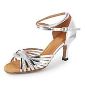 Zapatos de baile (Negro/Marrón/Plata/Oro) - Danza latina - Personalizados - Tacón Personalizado