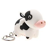 LED照明 / Key Chain Cow カトゥーン Key Chain / LED照明 / サウンド アイボリー ABS