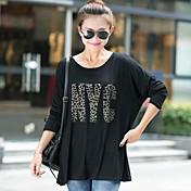 más tamaño suelta de manga larga camiseta de las mujeres (más colores)