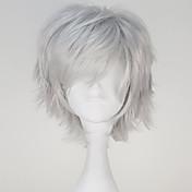 コスプレウィッグ 東京グール ケンKaneki グレー ショート / ストレート アニメ系 コスプレウィッグ 32 CM 耐熱繊維 男性用
