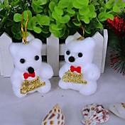 白クマクリスマスツリーの装飾品(2個セット)