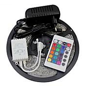 5M 300X3528 SMD RGB LED Strip Light and 24Key Remote Controller and 2A EU Power Supply (AC110-240V)