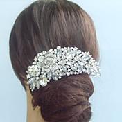 dámská vintage slitin drahokamu crystal flower svatební svatební vlasy hřebenem