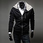 lesen collar de moda con capucha de piel de conejo de lana delgada chaqueta de punto de manga larga de la sudadera con capucha o informal de los