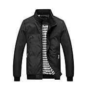 ℃&Kの男性の韓国のファッションスリムスタンドカラーのコートのジャケット