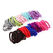 100pcs cintas para el pelo mullido multicolor