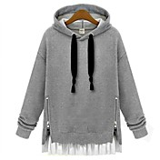 Women's Cotton Thick Zipper Loose Plus Size Hoodies