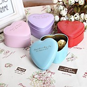 24 Piezas / Juego Holder favor-Con Forma de Corazón Metal Cajas de regalos Cubetas de recuerdo Personalizado