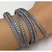 pulseras hechas a mano de terciopelo con las pulseras de cuero del abrigo bling del brazalete de perforación en caliente para la muchacha / regalo de