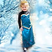 女の子の夏のドレスの王女のドレス長袖のドレス