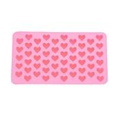 55-slot forma ve tvaru srdce silikon dort suchar pečicí formy zásobník Pečení (růžová)