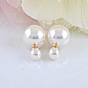 Peckové náušnice Perly Napodobenina perel Bílá Šperky 2pcs