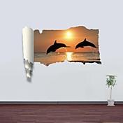動物 ロマンティック 風景画 ウォールステッカー 3D ウォールステッカー 飾りウォールステッカー 材料 取り外し可 ホームデコレーション ウォールステッカー・壁用シール