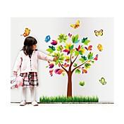 samolepky na zeď na stěnu, styl colore strom pvc samolepky na zeď
