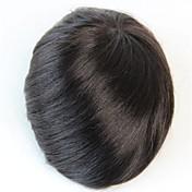 8x6 negro natural # peluca peluca de cabello humano de reemplazo peinado 1b de los hombres