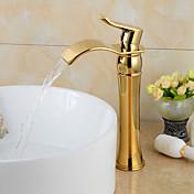 módní pozlacená mosaz koupelna umyvadlo baterie - gold