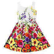 Dívka je Květinový Léto / Jaro Šaty Örganická bavlna Červená