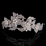成人用 フラワーガール 純銀 合金 かぶと-結婚式 パーティー ティアラ ヘッドバンド コサージュ