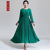 De las mujeres Corte Swing Vestido Vintage / Fiesta / Para Trabajo / Casual Un Color Midi