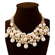 Mujer Collares Declaración Bola Perla Diamante Sintético Legierung Moda Europeo Joyería de Lujo Joyería Destacada Multi capa Elegant Joyas