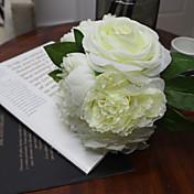 白は結婚式の花のための7花のbonchバラ