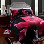 布団カバーセットは、4ピースのスーツ3D油絵の寝具はベッドリネンシートセットコットンプリント寝具を設定します