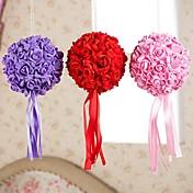 6 pulgadas besos artifiical Santin espuma de flores color de rosa bolas ramo de la boda decoración del coche
