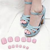 70pcs růžový prst tipy false akrylový nail art
