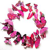 creativas tres dimensiones 3d pegatinas de pared de la mariposa (12pieces de conjunto)