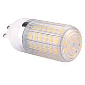 G9 15waty 60x5730smd 1500lm 2800-3200k / 6000-6500k teplá bílá / studená bílá světla vedl kukuřičného žárovky s pruhovaným krytem (AC110 / 220 V)