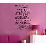 naději inspirující citace Lepicí obraz na stěnu zooyoo8033 dekorační kutilství odnímatelný vinyl zeď samolepky
