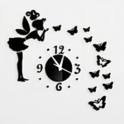 hadas creativo reloj de pared 3d espejo